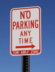 Pas de signal de STATIONNEMENT Le stationnement de trafic signe Rouge Blanc Conseil de l'aluminium