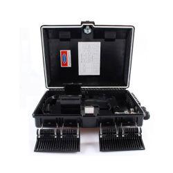 Venta caliente negro SC/LC/St/FC los conectores de fibra óptica FTTH de montaje en pared Caja de bornes de distribución de FTTH fibra de 16 núcleos de verificación con el módulo PLC Splitter