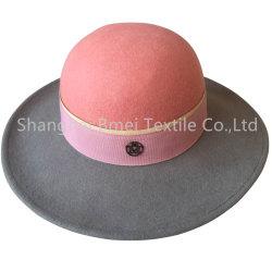 بيع ساخن النساء العروس واسعة Wool شعر جاز فيدورا القبعات قبعات رسمية