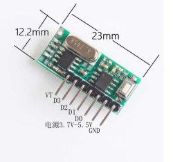 4-knops A B C D afstandsbediening met 4 kanalen Ontvangermodule RC480r -4CH