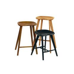 Footrest를 가진 등이 없는 단단한 나무 어린이 식사용 의자 디자인 의자