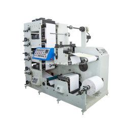 320mm Machine van de Druk van pvc Flexo van het Etiket de Zelfklevende met het Scheuren en het Knipsel van de Matrijs