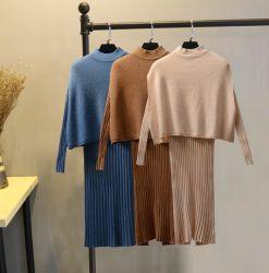 L'automne/hiver costume des femmes Celebrity Lady robe de coton
