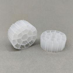 Hdpe بلاستيك أبيض Mbbr مرشح بيو حامل الوسائط للسكر تنقية معالجة مياه الصرف الصحي