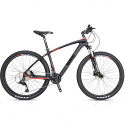 Venda por grosso de velocidade 21 26 27,5 29er da estrutura em liga de alumínio de fibra de carbono Travão de disco Shimano MTB bicicleta de montanha com Garfo de Suspensão