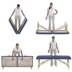 木製ベースの折りたたみ式 / ポータブルフェイシャルマッサージテーブル & ベッド ビューティースパでの利用