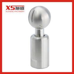 SS304 de 360 grados mate sanitarias CIP giratorio spray limpiador de rosca BOLA