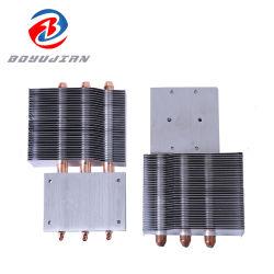 Refrigerador de CPU Caja de ventiladores refrigerador proyector principal módulo de refrigeración proyector Fabricación de radiadores de aluminio