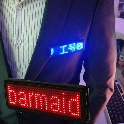 Aplicación Bluetooth LED programable etiqueta Name Badge Insignia de LED