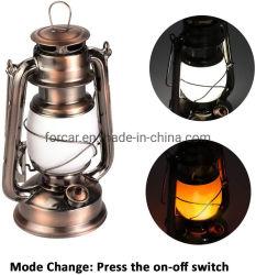 Candeeiro de mesa Retro LED Lanterna de cobre antigo Lâmpada Pendente de metal para camping