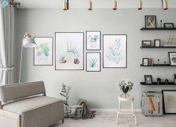 5 juegos estilo nórdico en 3D de arte decorativo moderno de vidrio de aceite colgada pinturas murales (MR-YB6-2052)