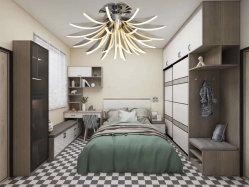 La luz del cristal LED lámpara de araña moderna Villa de techo soporte de iluminación de escaleras