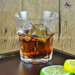 Tazza senza piombo di vetro di spirito di vetro bevente del whisky della roccia da 210 ml