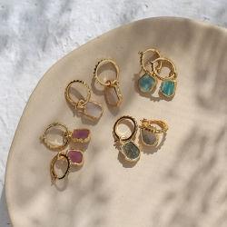 方法簡単で新しい Moonstone のイヤリングのネックレスの宝石類