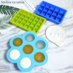 음식 등급 실리콘 도매 얼음 몰드형 뚜껑 얼음 BPA 불포함 큐브 모양 실리콘 아이스 큐브 트레이