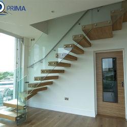 Barato preço de fábrica piscina decorativa escadas de madeira maciça escadas flutuantes
