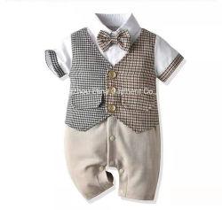 2021 年夏の新しい熱い販売の紳士は半袖の手編み綿を編んだ Romper の赤ん坊の男の子の摩耗