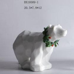 ホーム装飾のためのくまの形のクリスマスの陶磁器の装飾