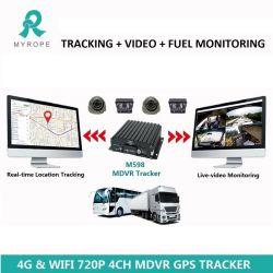 4 canaux kit voiture enregistreur vidéo systèmes GPS de Taxi Voiture DVR avec GPS tracker et les logiciels libres