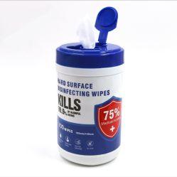 Салфетки производитель 100 ПК 99,9% стерилизации зародышевых эффект 75 % раствор изопропилового спирта дезинфицирующим раствором влажных салфеток с ковшом продувка фильтра паров топлива