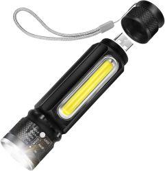 [أوسب] مصباح كهربائيّ [رشرجبل] تكتيكيّ, ألومنيوم [لد] مشعل مع أثاث مدمج عرنوس الذرة [سد ليغت] ومغنطيس 18650 بطّاريّة لأنّ يخيّم, يرفع, إستعمال يوميّة
