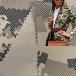 중국 제조업체 100% 폴리에스테르 공급 우븐 카무플라주 인쇄됨 펜킹 트판 다운 재킷 코팅을 위한 폴리에스테르 패브릭