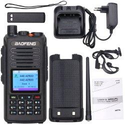 A banda dupla Baofeng Walkie Talkie Dmr Dm-1702 Mensagem SMS GPS 5W walkie-talkie