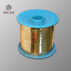 scheurstrook van het Hologram van Metalized van de Kleur van 3mm de Dunne Gouden