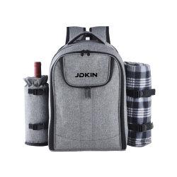 여행용 피크닉 가방, 테이블웨어 가방 휴대용 열절연 4인용 대용량 통합형 피크닉 백팩