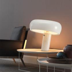 Coluna de mármore de design moderno candeeiro de mesa Snoopy Cogumelo para hotel de luxo candeeiro de secretária