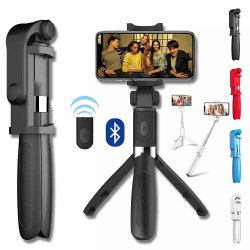 O Bluetooth Selfie Stick para Telefone Monopod Smartphone Tripé Stick Stand Pod intestinos clipe de montagem