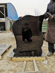 China Fabricante Tombstone Estilo Russo monumentos de granito preto absoluto