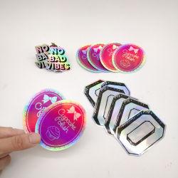 주문 커트 PVC 비닐 스티커 장 로고 인쇄를 정지하십시오