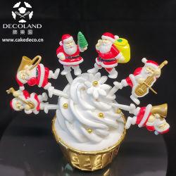 Пластиковый Рождество Санта торт украшение
