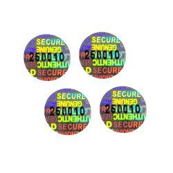 Holograma personalizado pegatina con el número de serie fácil destruir y Tamper Evident