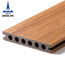 高力木製の穀物の共押出し木製のプラスチック床のDecking WPCのフロアーリング