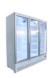 3 двери охладитель и морозильной камере высокая производительность с распашной двери в белой коммерческих ресторан Кафе Бар Паб холодильником и морозильной камере