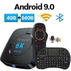Android 9.0 Bluetooth TV окно Google голосовой помощник Youtube 6K 3D WiFi 2.4G&5.8g 4 ГБ оперативной памяти 64G играть магазин верхней части окна