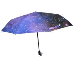 Deutschland 2020 Neue Erfindungen Outdoor Sonne und Regen hohe Qualität Niedriger Preis Farbige 3 Faltenschirm Werbeaktion
