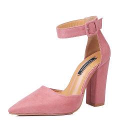 Los zapatos de tacón grueso Material Mate Lady's Tacón Suede Slip-on de la mujer Zapatos de Vestir