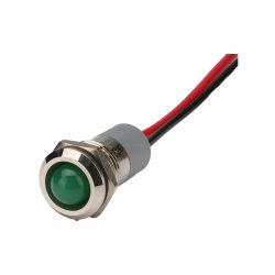 مؤشر الجملة 24 فولت قطر التيار المستمر 8 مم 10 مم 12 مم 16 مم معدن مصباح إشارة الطاقة لمؤشر IP67 المقاوم للمياه LED