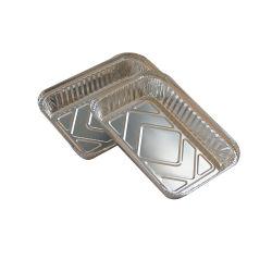 Stampa a gettare della panetteria del di alluminio di rettangolo su ordinazione/contenitore e dei coperchi per il BBQ