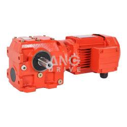 Wechselstrom sondern der 3 Phasen-rechtwinkligen flachen Gang-Bewegungsgetriebe-Geschwindigkeits-Reduzierstück Reduktor Motor aus