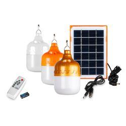 Alimentada a energia solar luz de LED portátil de lâmpada de carga USB Lâmpada de sinalização em destaque no interior do escritório da leitura de cozinha com painel solar