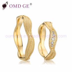 Casal de ouro amarelo cor anéis de casamento