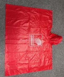 Красный ПВХ Poncho Дождя/покрыть/износа для взрослых