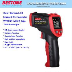 Di Wt323b Digitahi della circonvallazione del laser contatto non che cucina il termometro infrarosso della pistola di temperatura di IR con lo schermo a colori della lampadina di HD con K-Tipo termocoppia per industria