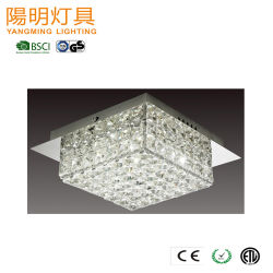 Projet de haute qualité décoration de l'hôtel Crystal lustre en cristal de plafond moderne d'éclairage
