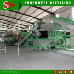 Sucata de granulado de borracha para resíduos de pneus de caminhão/Reciclagem de Pneus