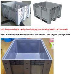 Utiliza la caja de palet molde Contenedor de la Tarjeta de verificación de segunda mano molde